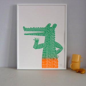 Image of Chatty Crocodile screenprint