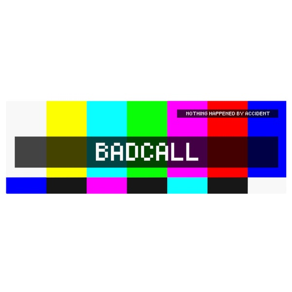 "Image of BADCALL - ""Broadcast Signal Intrusion"" Sticker (2017)"