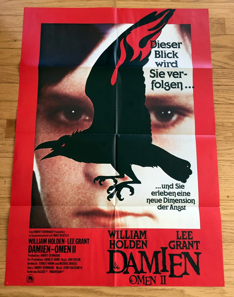 Image of 1978 DAMIEN OMEN II Original German A1 Movie Poster