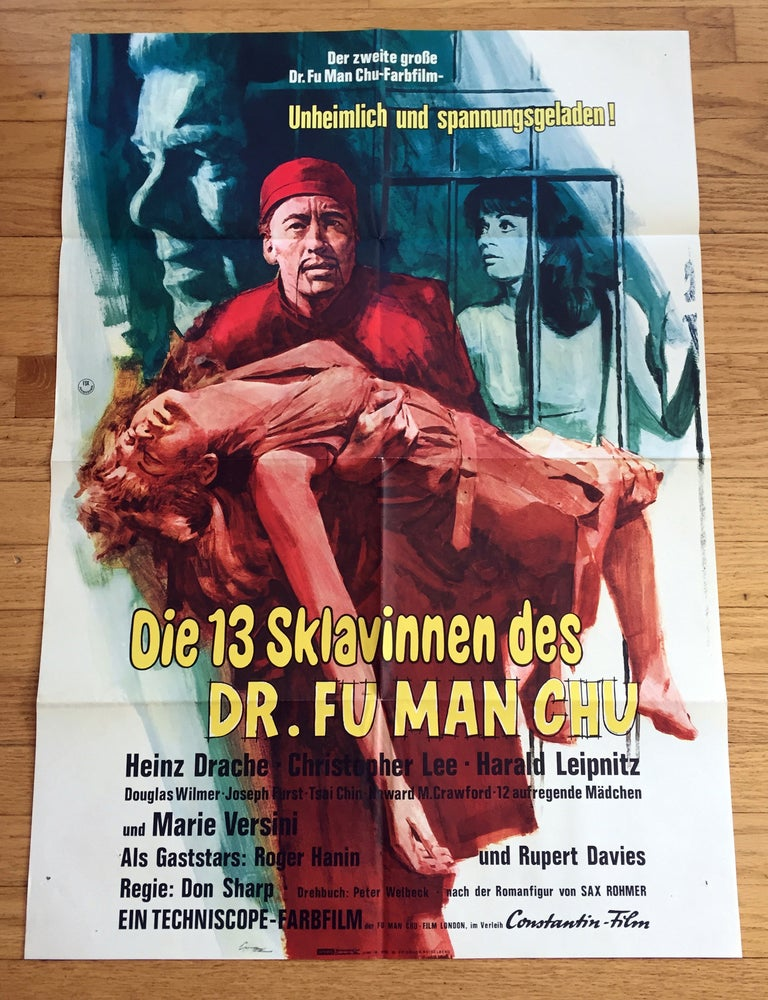 Image of 1966 THE BRIDES OF FUMANCHU Original German A1 Movie Poster