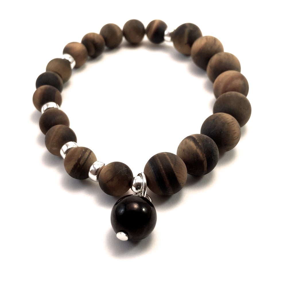 Image of Tiger Eye Infinity Wrist Malas