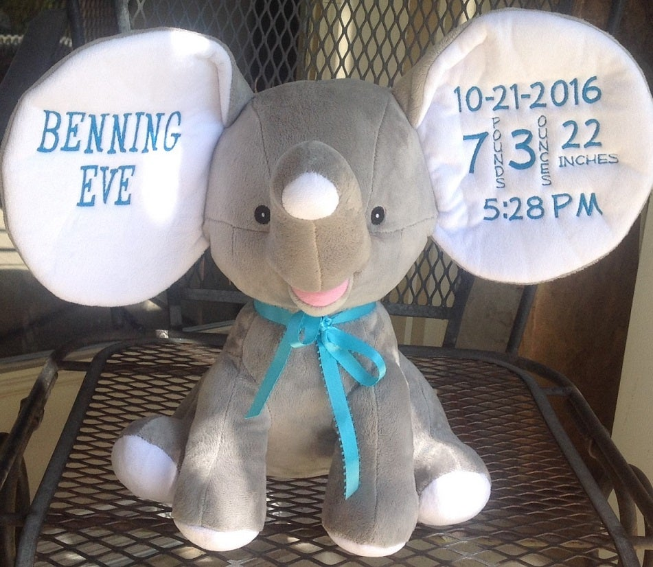 i stitch nc birth announcement elephant