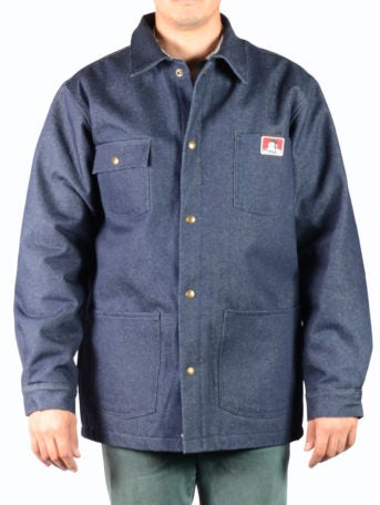 Image of Ben Davis Original Jacket, Indigo Denim – Front Snap