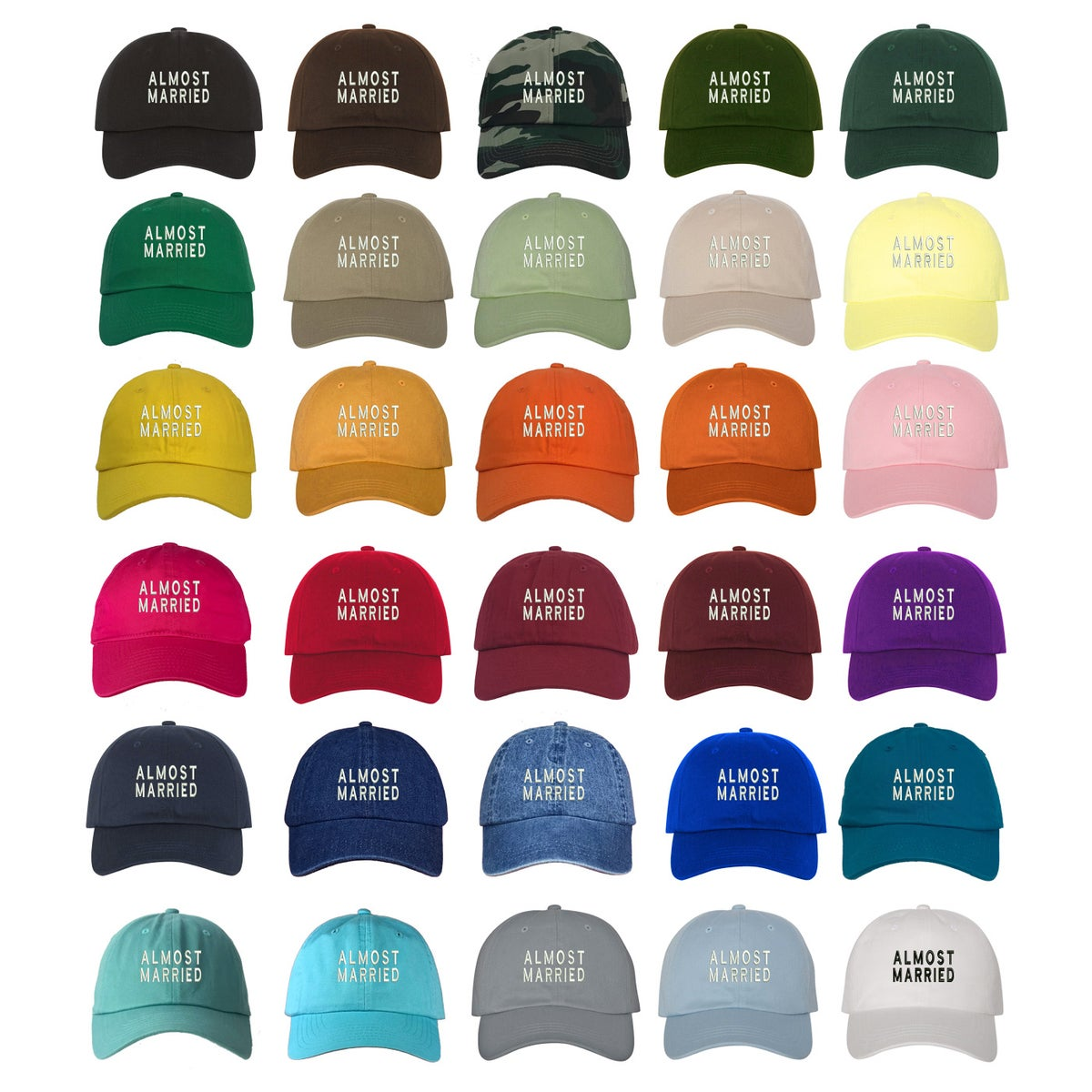 ce3cfe055d4 Prfcto Lifestyle — Wholesale - One Dozen - ALMOST MARRIED Dad Hat