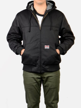 Image of Ben Davis Hooded Jacket – Front Zipper (Black)