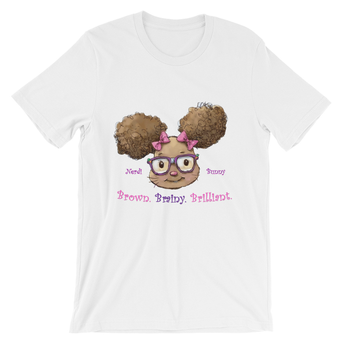 Image of Brown. Brainy. Brilliant. Tee--available in Adult & Child Sizes