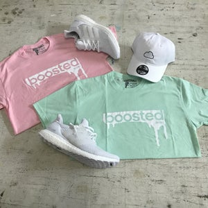 "Image of BOOSTED  ""PINK, BLUE TINT, TAN, OR MINT"" T-SHIRT"