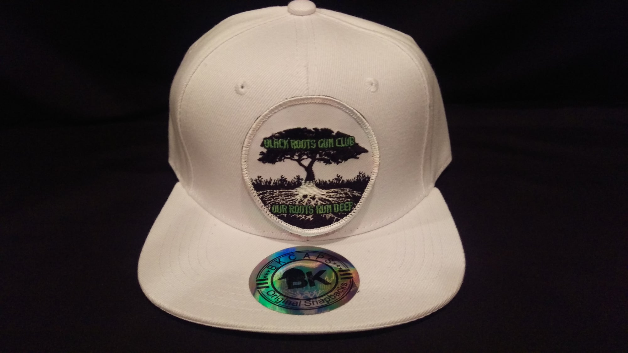 Image of Black Roots Gun Club Snapback Hat w  Velcro Patch (white) a688a804a2c