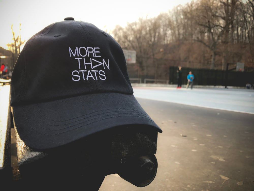 Image of More Than Stats 'Dad Hat'  BLACK