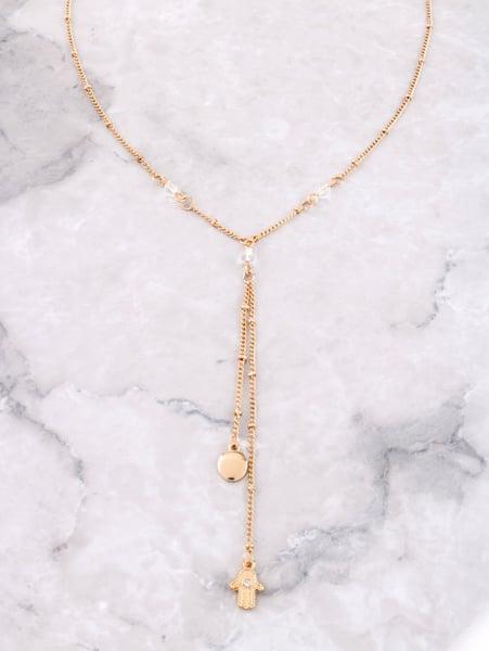 Image of Ball Chain Hamsa Necklace
