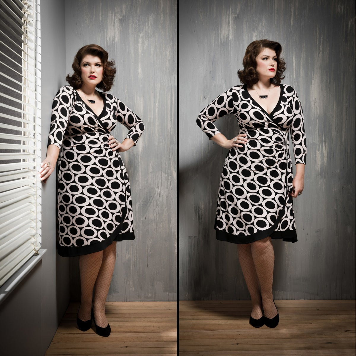 Image of FALLEN ANGEL FAUX WRAP DRESS...