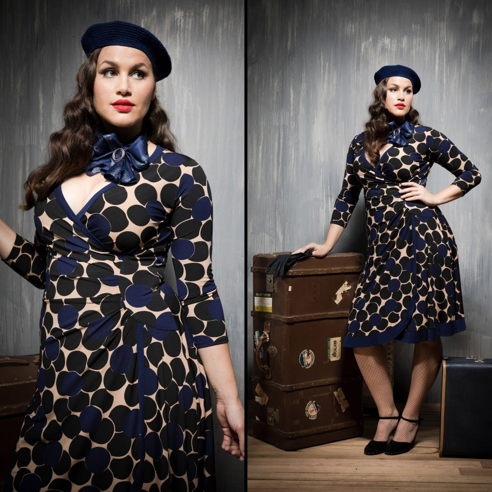 Image of FALLEN ANGEL FAUX WRAP DRESS