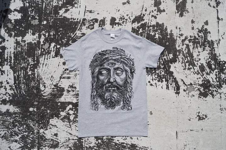 "Image of ""3rd Eye Blind"" Sports Grey T-Shirt / Black Print"