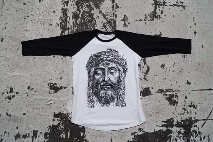 """Image of """"3rd Eye Blind"""" 3/4 Baseball T-Shirt (Black & White)"""