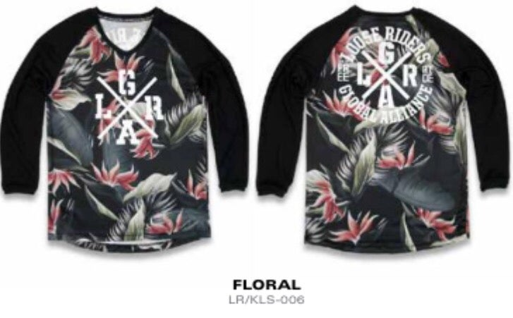Image of Kids Floral Jersey - Long Sleeve.