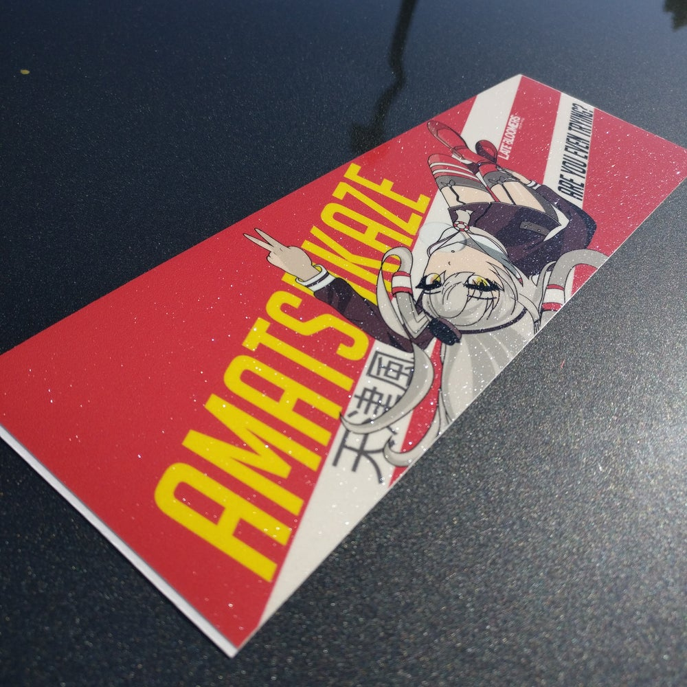 Image of Amatsukaze Laying Around Highlight | w/Vinyl UV Coating & Metallic Laminate