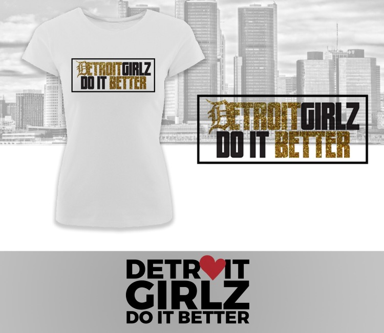 Image of Detroit Girlz Do It Better Glitter Tee
