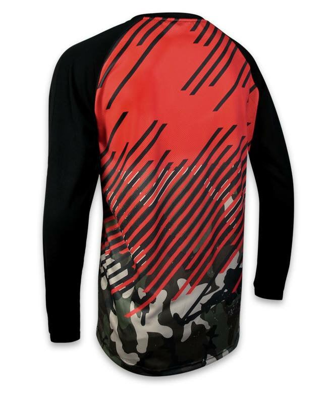 Image of Crossbar Evo Red - Long Sleeve Jersey.