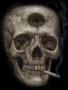 """Image of """"Tricloptic Skull"""" Canvas Giclee 11x14"""""""