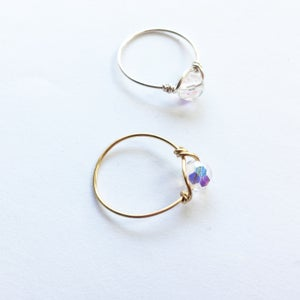 Image of Simple Swarovski Rings