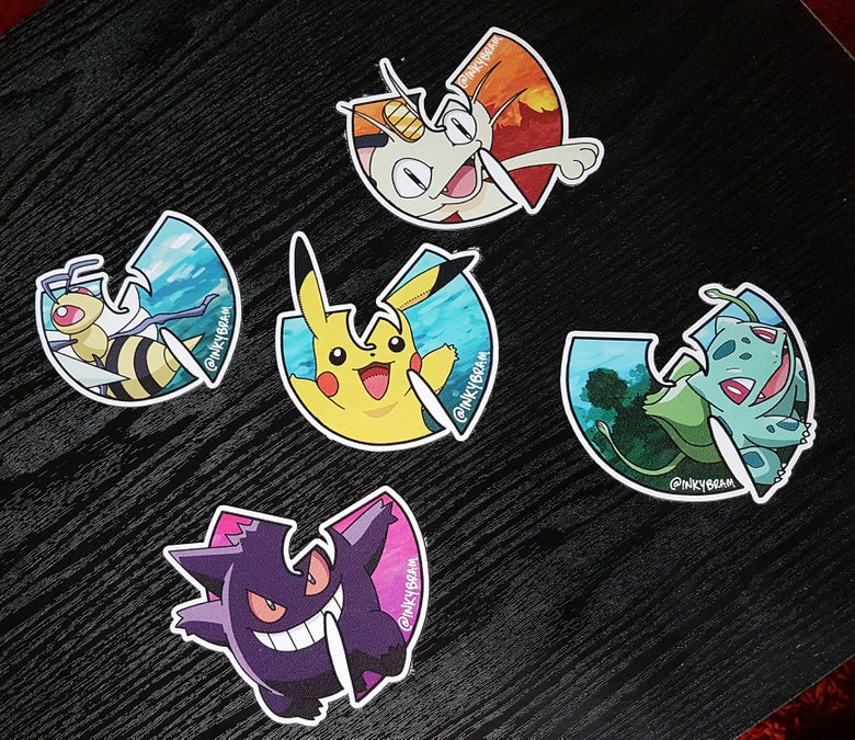 Image of Wu-kemon Vinyl Sticker Set #1