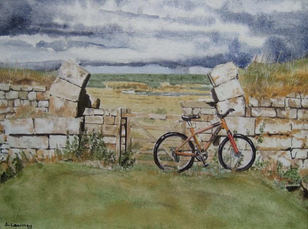 Image of Mountain Bike, Hadrian's Wall, Print