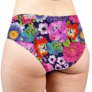 Image of Tattoo Floral Low Rise Cheeky Shorts