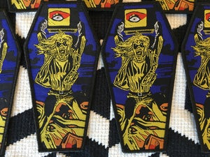 Image of Iron Maiden - Holy Smoke coffin patch