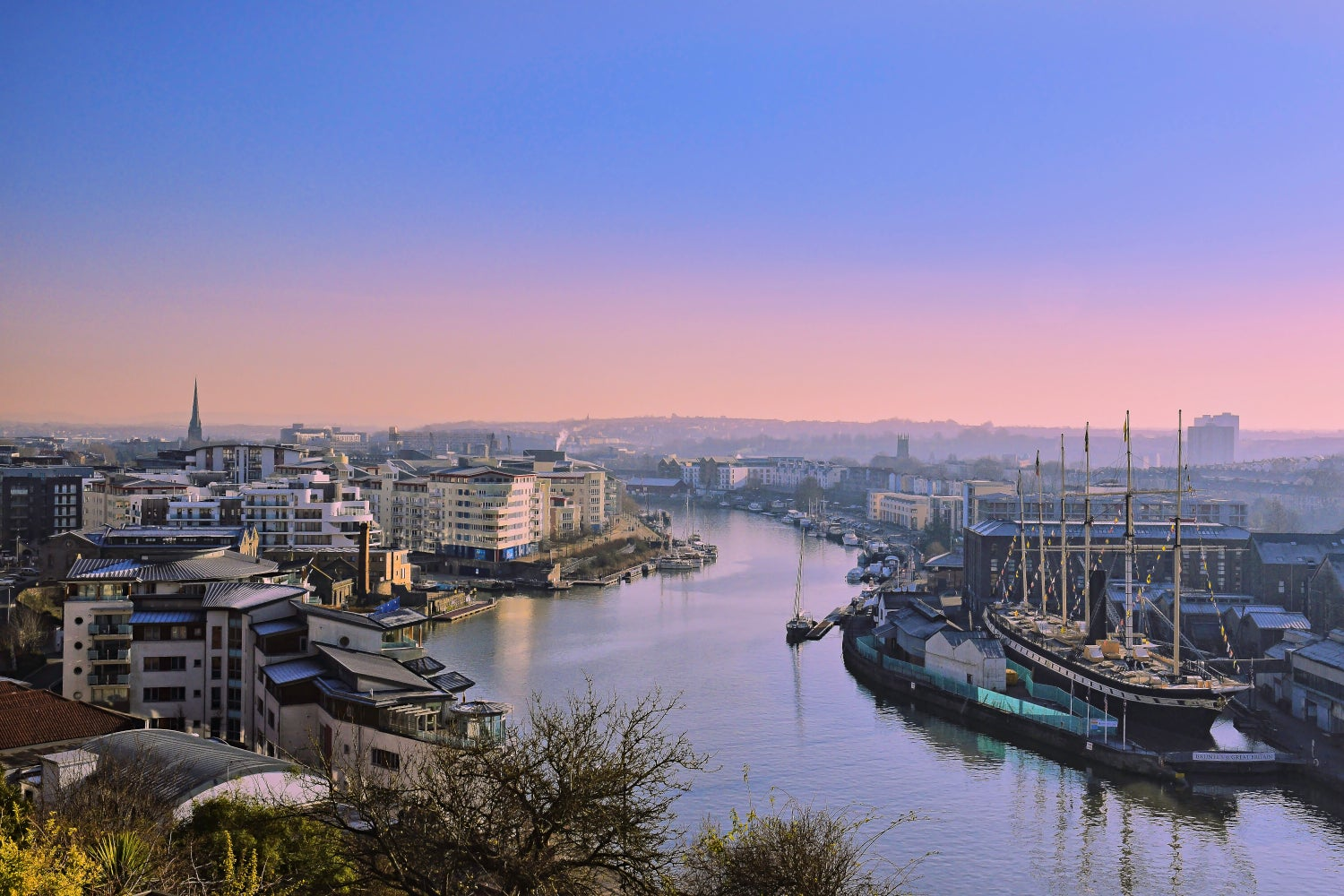 Image of Sunrise Over The Harbour - Print.