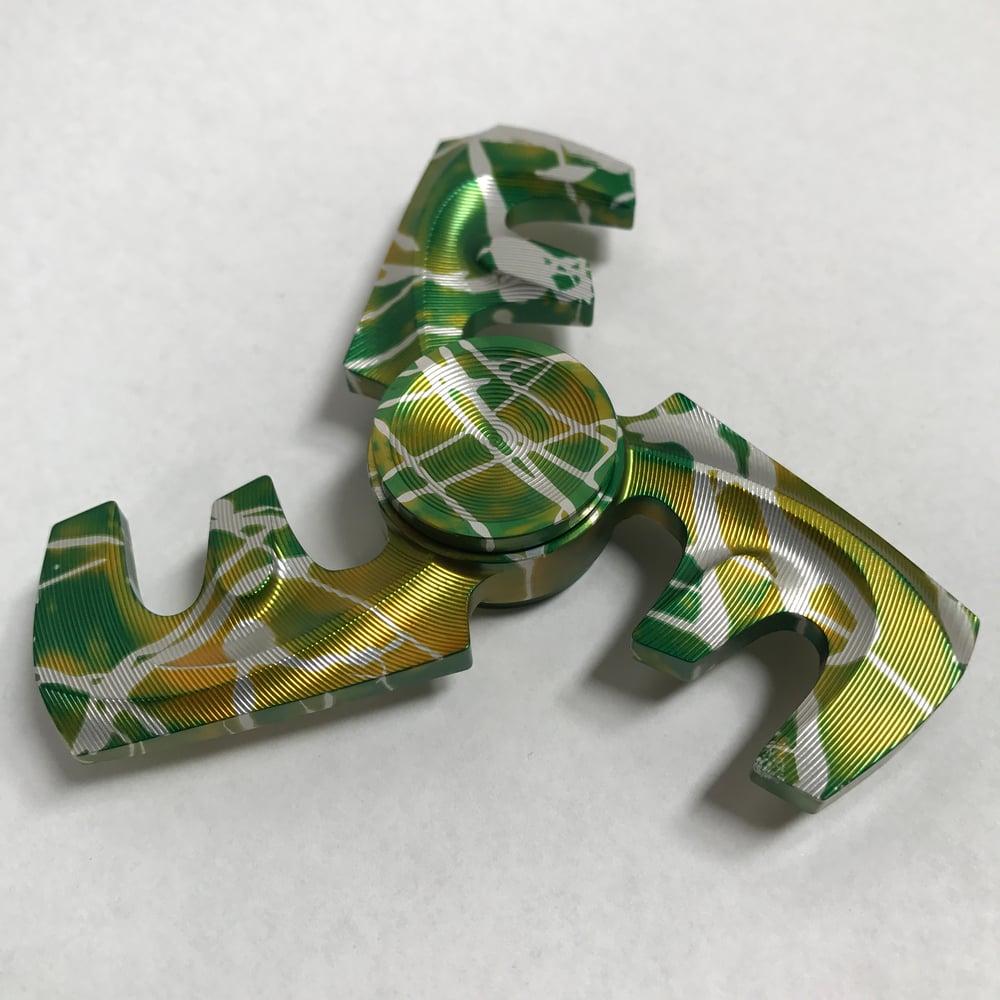 "Image of Aluminum ""Oakland Athletics"" Triple ""F"" Fidget Toy Spinner w/ Full Ceramic Bearing"