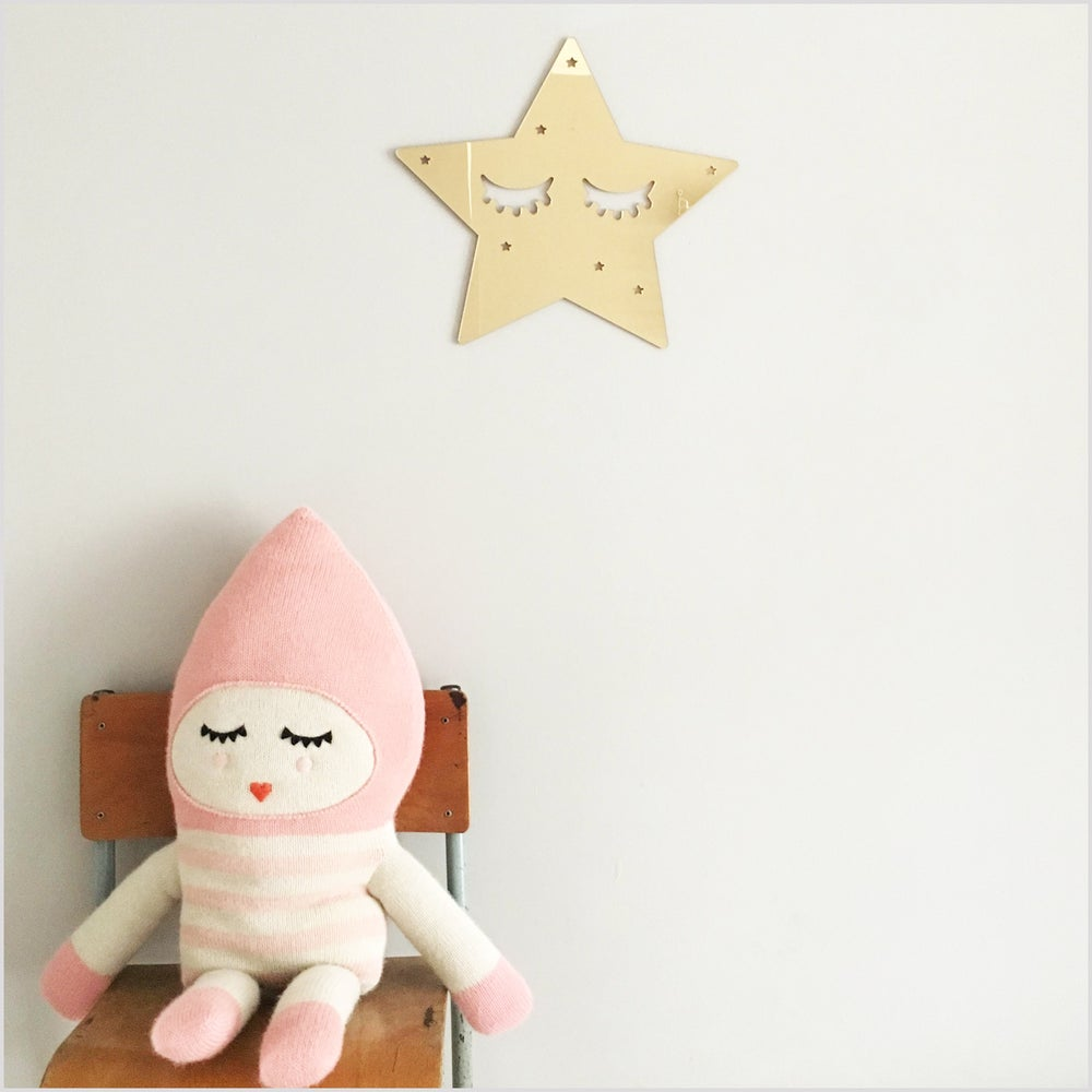 Image of Gold Mirror Acrylic Sleepy Star