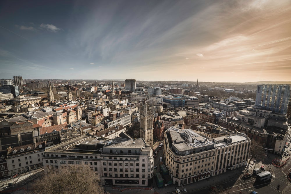 Image of Bristol Skyline - Print.