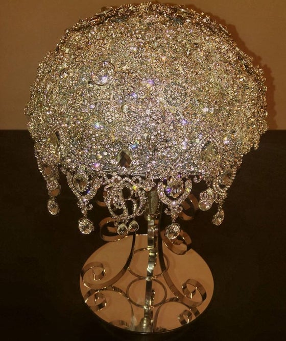 Image of BLING ROYAL BROOCH BOUQUET