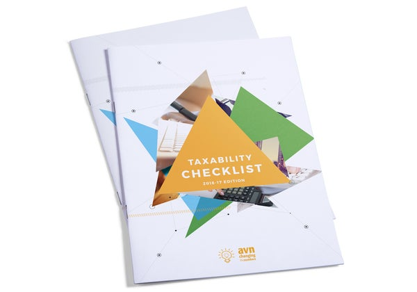 Image of TaxAbility Checklist 2018/2019 Edition Design