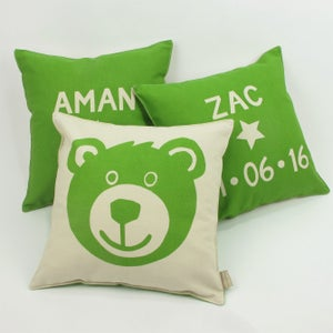 Image of Personalised Teddy Bear Cushion