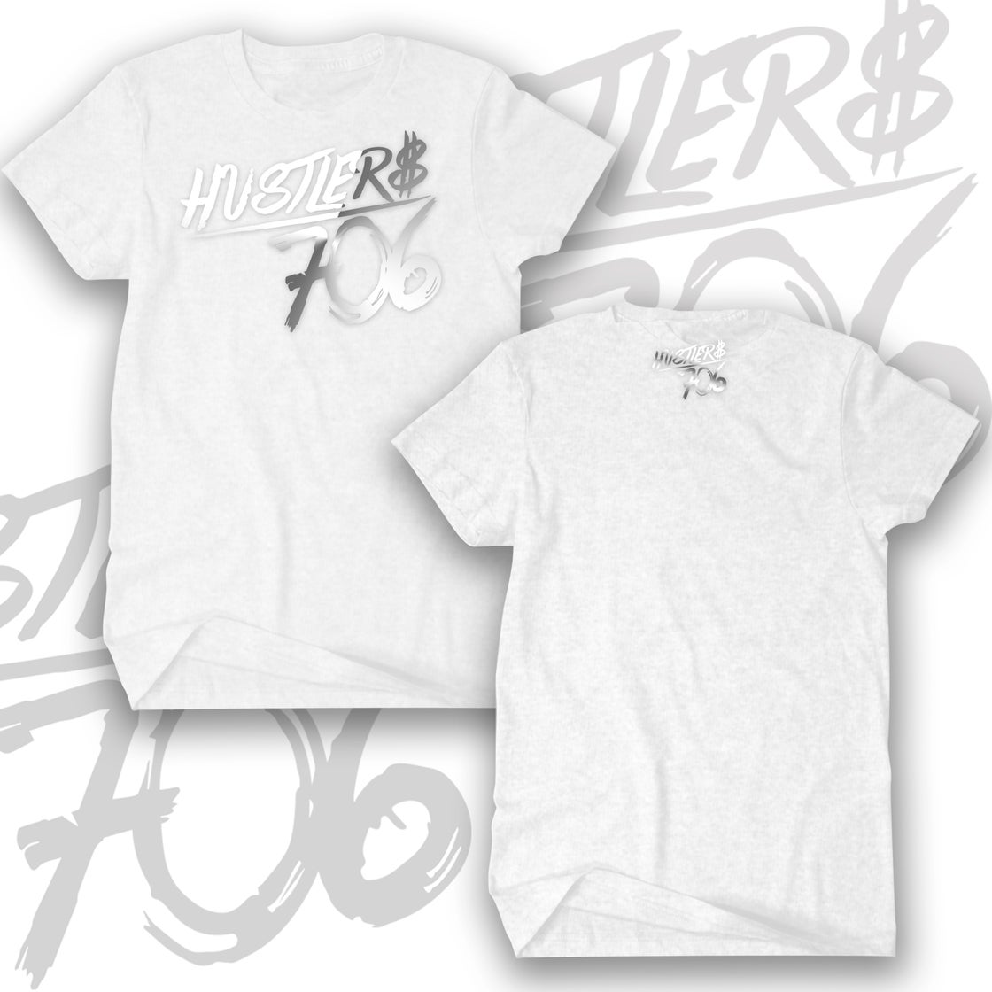 Image of HUSTLER$ 706 (Blk/Wht, Red/Wht, Blk/Silver, Heather/Wht, Wht/Silver, Navy/White (not pictured))