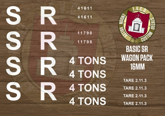 Image of Basic SR Wagon Decals 16mm