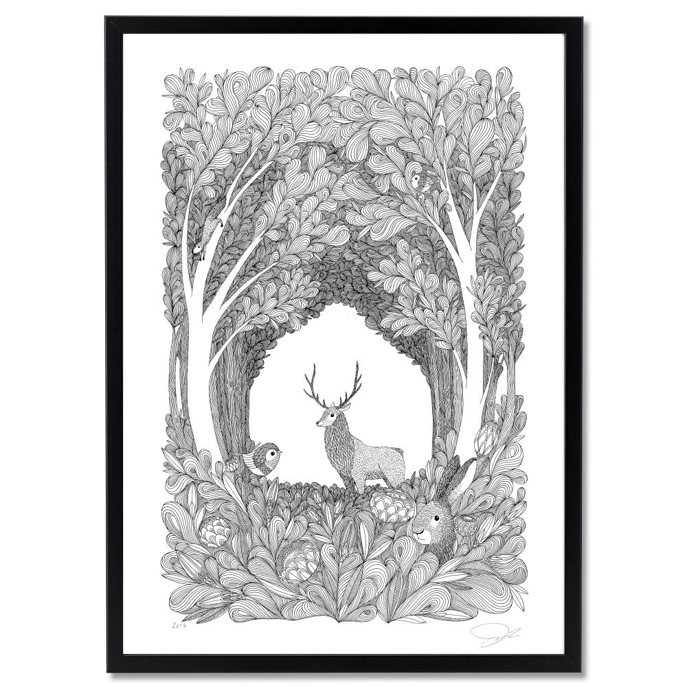 Image of Large Print: Forest Friends