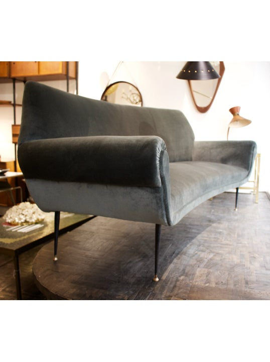 Image of Curved Sofa, Italy 1950s