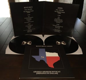 Image of Boyd Rice / Awen - ABYSSUS ABYSSUM INVOCAT (Defiance In Dallas) DOUBLE 12""