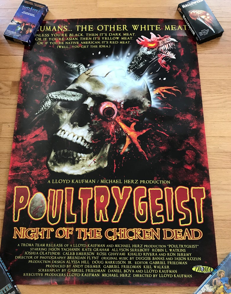 Image of 2006 POULTRYGEIST Original Troma Video Promo Poster