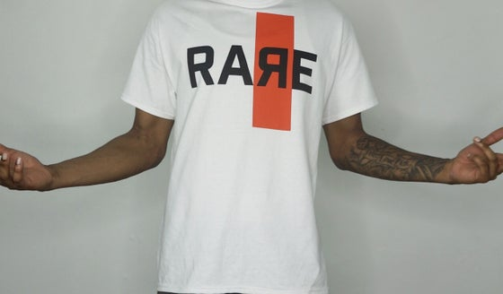 Image of White Tee Official Rare Logo