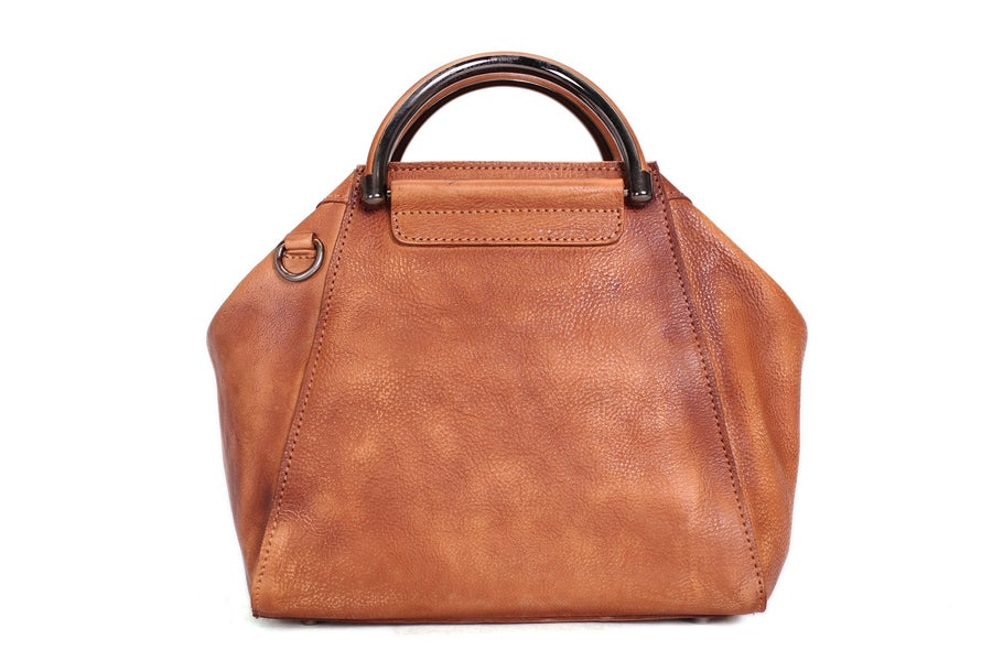 Image of Handmade Full Grain Leather Women Handbag, Designer Handbag, Leather Satchel Bag WF52