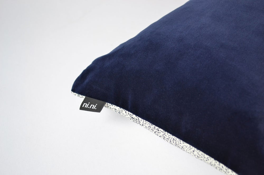 Image of Galaxy Velvet Navy Cushion Cover - Square