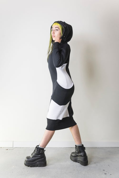 Image of DEEP_SPACE MONOCRHOME DRESS