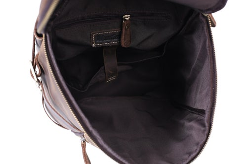 Image of Handmade Vintage Leather Backpack, Travel Backpack, Messenger Bag, Sling Bag Z106