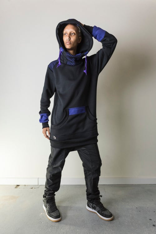 Image of PURPLE SPACELAB HOODIE