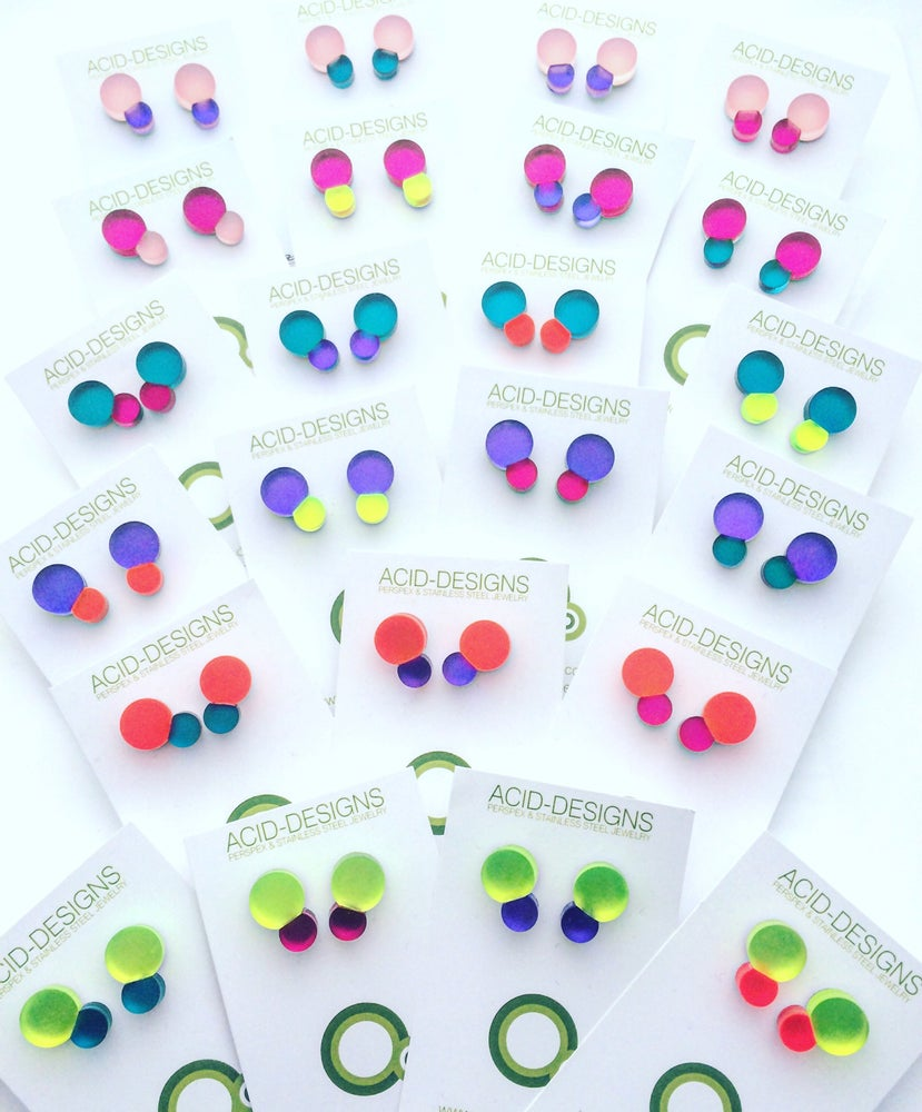 Image of Náušnice / Earrings Bubbles color