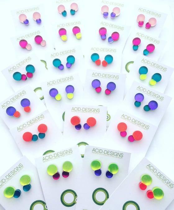 Image of Náušnice / Earrings Bubbles color