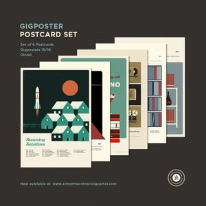 Image of Gigposter Postcard Set